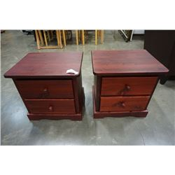 PAIR OF PINE 2 DRAWER NIGHTSTANDS