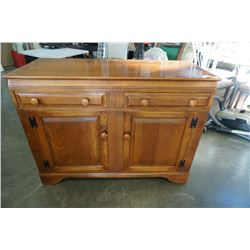 2 DRAWER WOOD SERVER