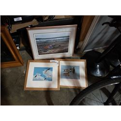 2 SIGNED LIMITED EDITION PRINTS, SEAGULLS AND BEACH