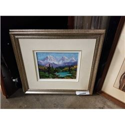 """Signed oil on canvas """"golden ears"""" colton"""