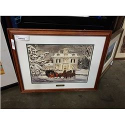 SLEIGH BELLS SIGNED WALTER CAMPBELL PRINT W/ AUTHENTICITY