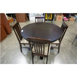 ROUND MODERN DINING TABLE WITH 4 CHAIRS