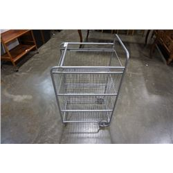 ROLLING 3 DRAWER WIRE RACK