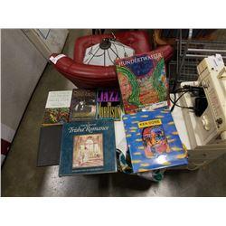 Box of art books