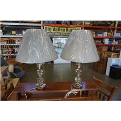 PAIR OF TRIPLE PRISM TABLE LAMPS