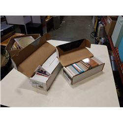2 boxes of hockey cards