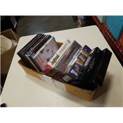 BOX OF DVDS AND DVD SETS