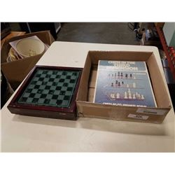2 CHESS SETS 1 IS 3D