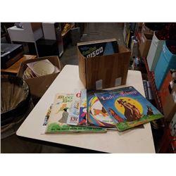 BOX OF DISNEY AND SESAME STREET RECORDS