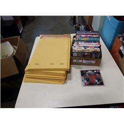 BUBLE ENVELOPES, DVDS AND MASTER LOCK COMBINATION LOCKS