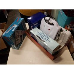 OSTER HAND BLENDER, SLICER, WAFFLE IRON, PAPER SHREDDER AND TEXAS INSTRUMENTS TI-5045II