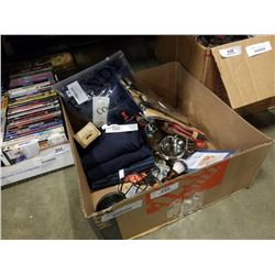 Box of mens grooming supplies and more