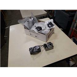 Box of 2 Kodak digital cameras and new earbuds