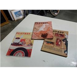 3 VINTAGE PLAYBOY MAGAZINES - 1957, 1967 AND 1964