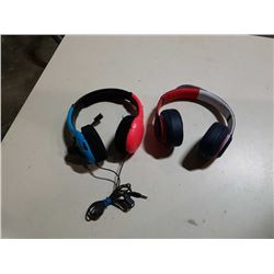 NINTENDO SWITCH HEAD PHONES AND TOMMY HILFIGER HEAD PHONES