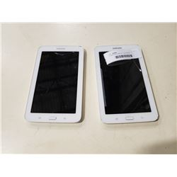 2 SAMSUNG TABLETS - UNTESTED CRACKED SCREENS