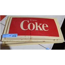 "Coca-Cola Soda fountain advertising panel - 17"" x 10"""