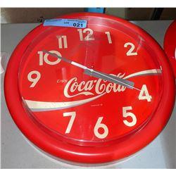 """Classic round Enjoy Coca-Cola clock 14"""" Diameter"""