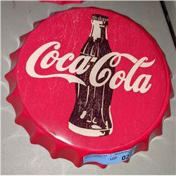 """Reproduction Coca-Cola cap tin - 14"""" Diameter"""