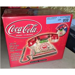 Collectible vintage style Coca-Cola light up phone