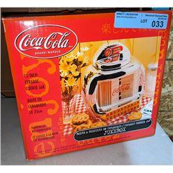Wall style ceramic Coca Cola jukebox cookie jar