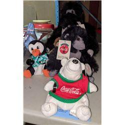 Stuffed gorillas Coca-Cola branded