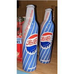 Miscellaneous Coca Cola, Pepsi, Fanta bottles, newer ones with crate