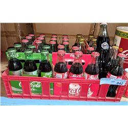 Coca-Cola six pack case with rare Super Bowl 28 Coke bottles