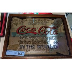 """1 small and 1 big coke framed picture (12"""" x 15.5"""" / 6"""" x 6.25"""")"""