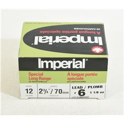 "20 Rounds Imperial 12 Gauge 2 3/4"" #6 Shot"
