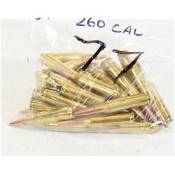 37 Rounds of 260 Remington Ammunition
