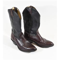 Men's Silver Rebel Leather Western Cowboy Boots