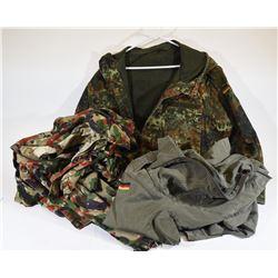 Box Lot Military Clothing