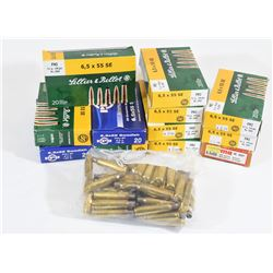 290 Pieces Once-Fired 6.5X55 Brass