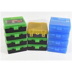 11 Plastic Flip Top Bullet Cases