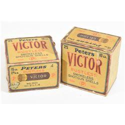Vintage .16 ga PETERS No.4 Paper Hull Shotshells