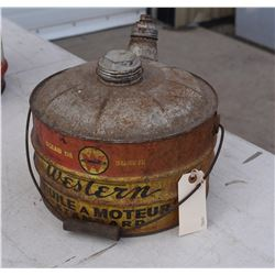 Vintage Western Standard Motor Oil Can