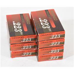140 Rounds Norinco Chinasports 223 Ammunition