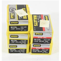 Box Lot of Speer 30 cal Bullets