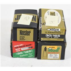 Box Lot Nosler 30 Cal Bullets