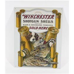 Metal Winchester Shotgun Shells Sign