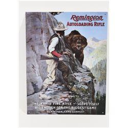 Metal Remington Autoloading Rifle Sign