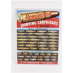Metal Remington Sporting Cartridges Sign