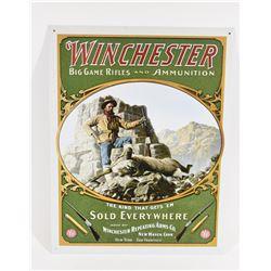Metal Winchester Big Game Rifles & Ammunition Sign