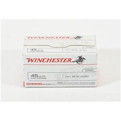 100 Rounds Winchester 45 Auto Ammunition