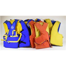 6 Assorted Life Jackets