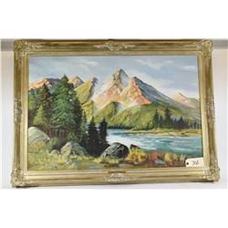 Large Landscape Painting on Canvas