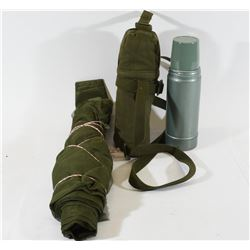 Canadian Army Thermos Bottle & Netting