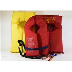 5 Personal Floatation Vests