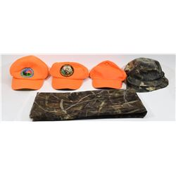 Mixed Lot Hunting Caps, Seat, Mesh